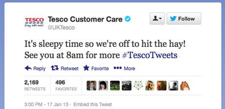 Tesco tweet