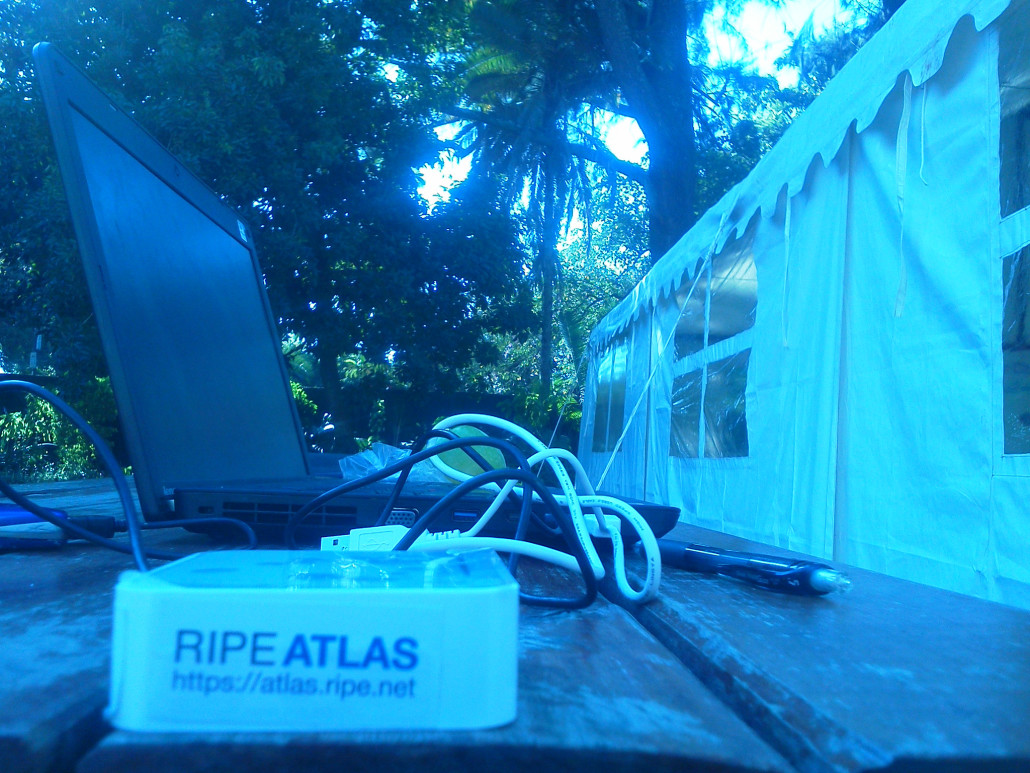 A newly activated RIPE Atlas probe, helping to improve internet access in Zimbabwe