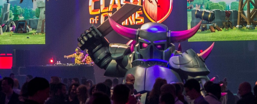 Supercell's Clash of Clans characters featured at Slush 2015