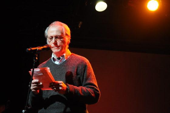 Writer DeLillo reading in New York City in 2011